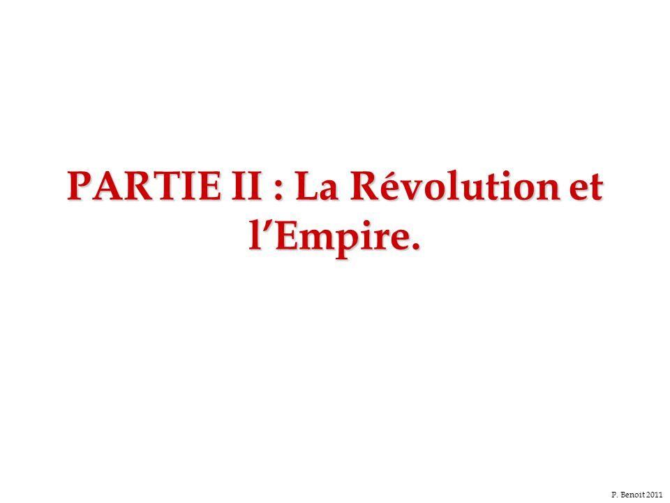 PARTIE II : La Révolution et l'Empire. P. Benoit 2011