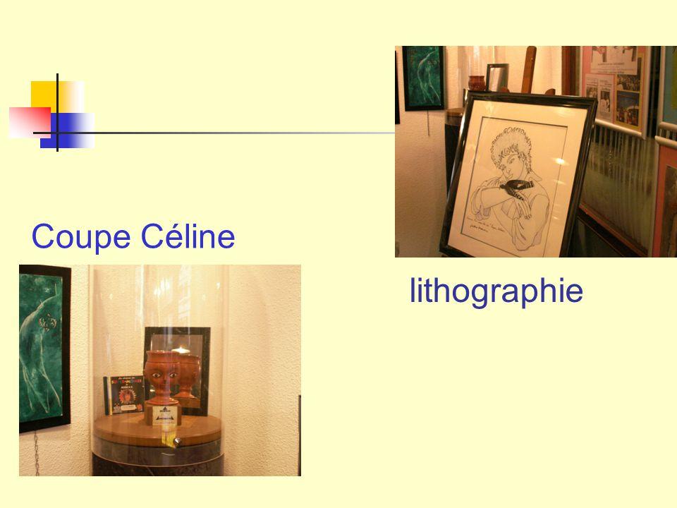 lithographie Coupe Céline