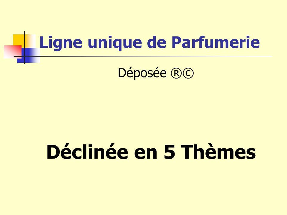 Ligne unique de Parfumerie Déposée ®© Déclinée en 5 Thèmes