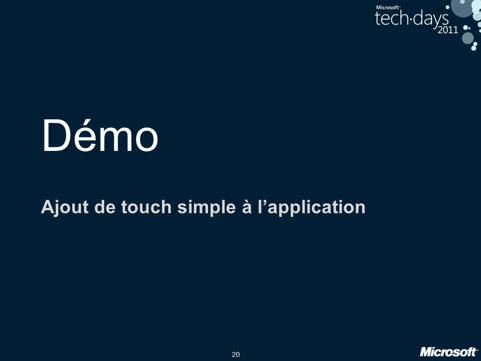 20 Démo Ajout de touch simple à l'application