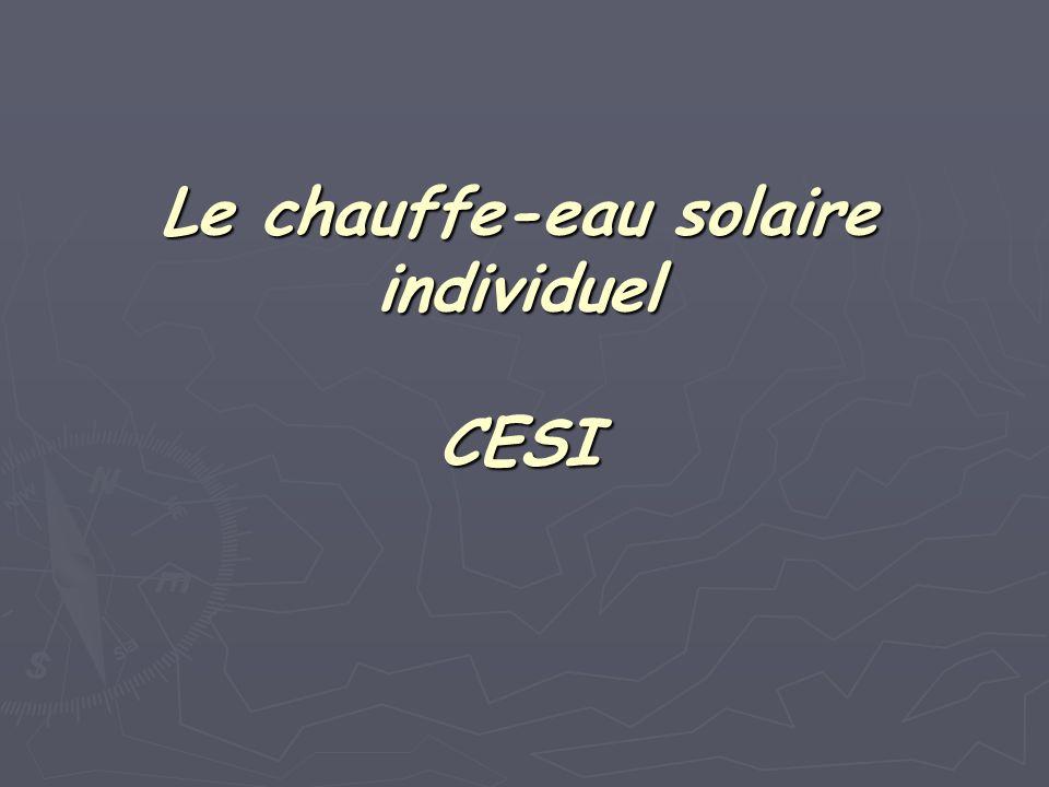 Le chauffe-eau solaire individuel CESI