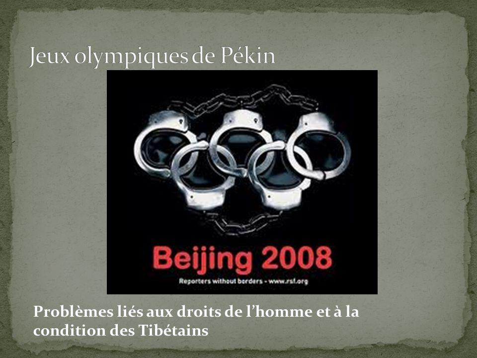 Problèmes liés aux droits de l'homme et à la condition des Tibétains