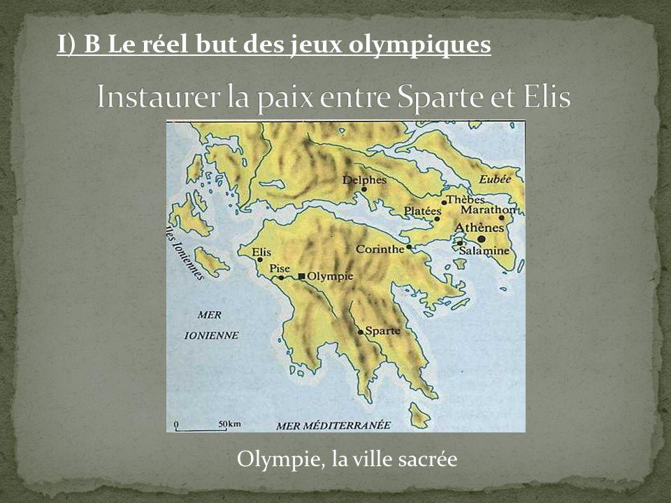 Olympie, la ville sacrée I) B Le réel but des jeux olympiques