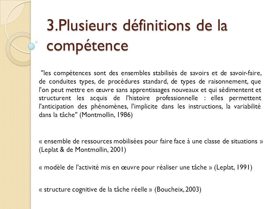 Vergnaud aborde la notion de compétence d'une autre manière : A est plus compétent que B s'il sait faire quelque chose que B ne sait pas faire.