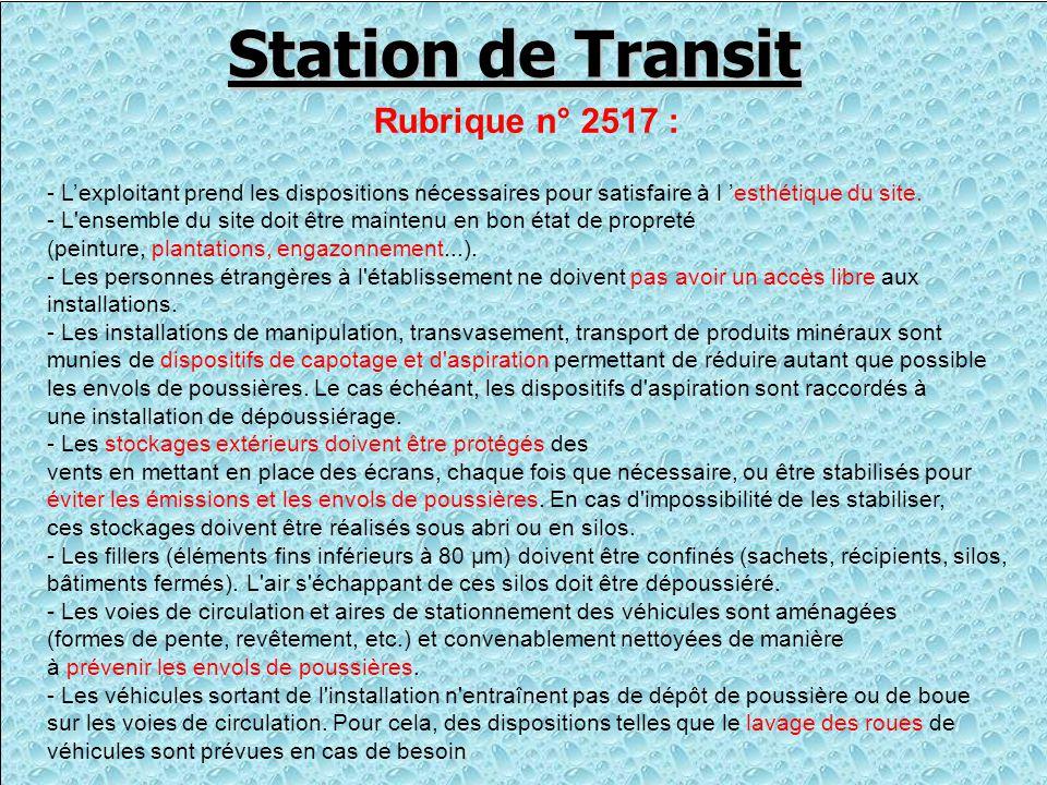 le 5 Mars 2003 Nous découvrons le 5 Mars 2003 l'existence de cette Station de Transit avec l'exploitation d'une cribleuse alimentée par une pelle et un chargeur produisant BRUIT et POUSSIÈRES