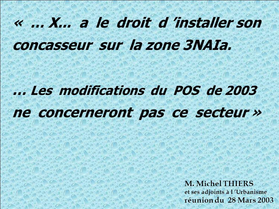 « … X...a le droit d 'installer son concasseur sur la zone 3NAIa.