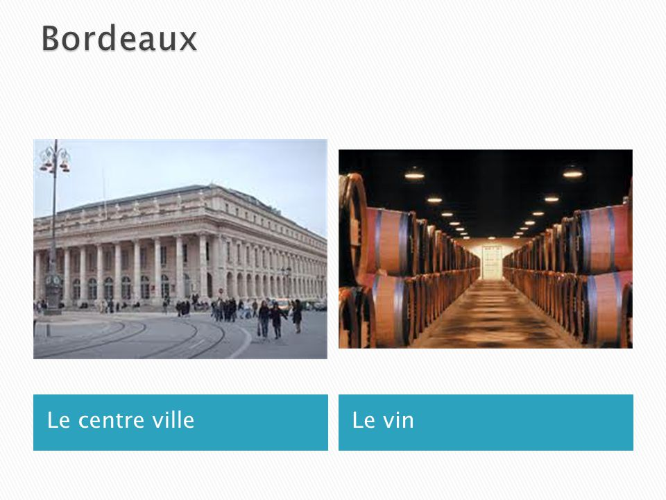 Le centre villeLe vin
