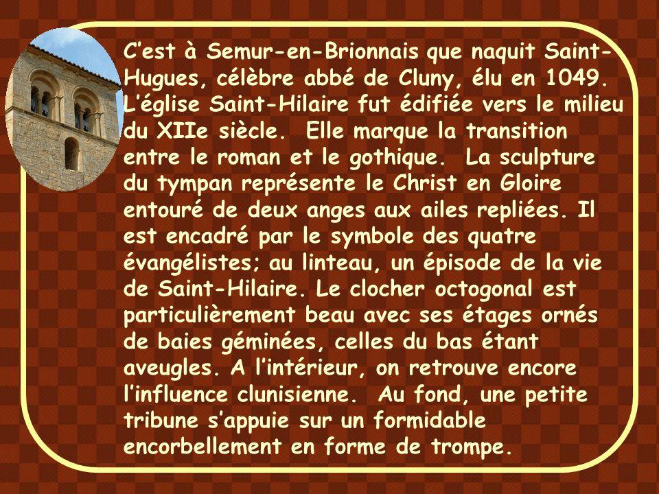 L'église de Baugy, au bord de la Loire, probablement construite au milieu ou à la fin du XIe siècle a conservé certains caractères archaïques dont l'é