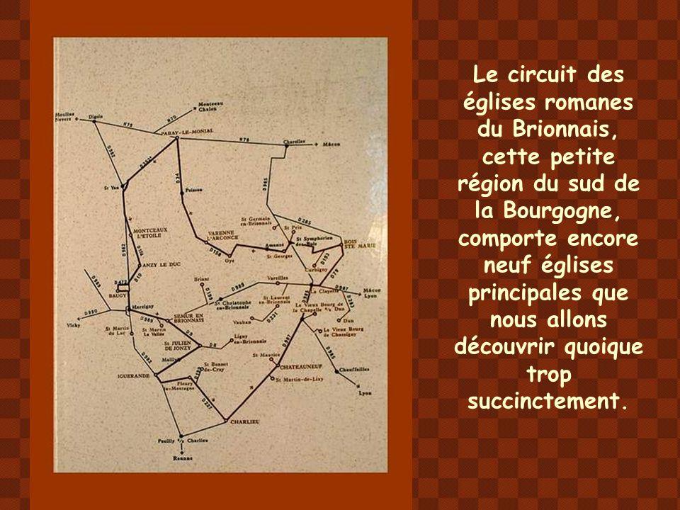 Encadrées par les deux villes monastiques de Paray-le-Monial en Charolais et de Charlieu dans la Loire, une soixantaine d'églises et chapelles romanes