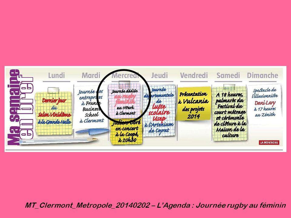 MT_Clermont_Metropole_20140202 – L'Agenda : Journée rugby au féminin
