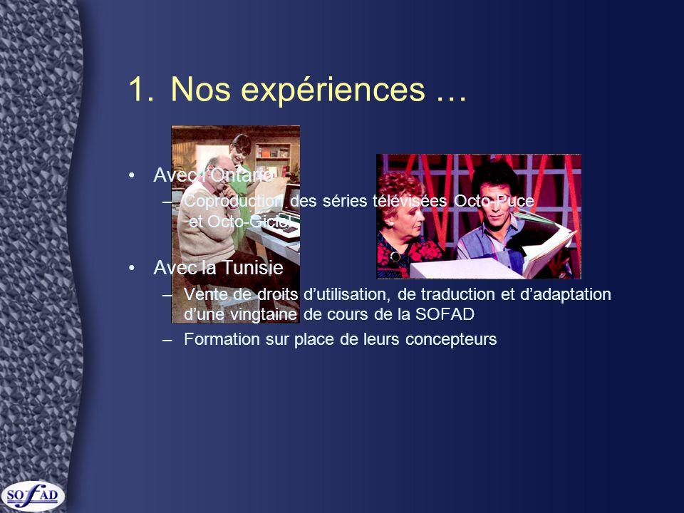 2.Ce qu'est la SOFAD •Une jeune société...