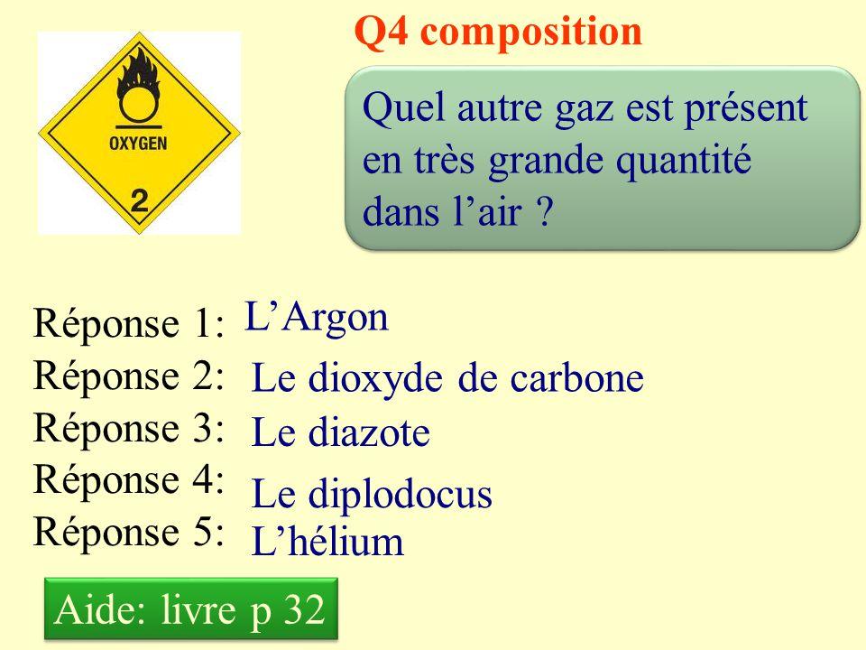 Q3 composition Quelle est la proportion de dioxygène dans l'air .