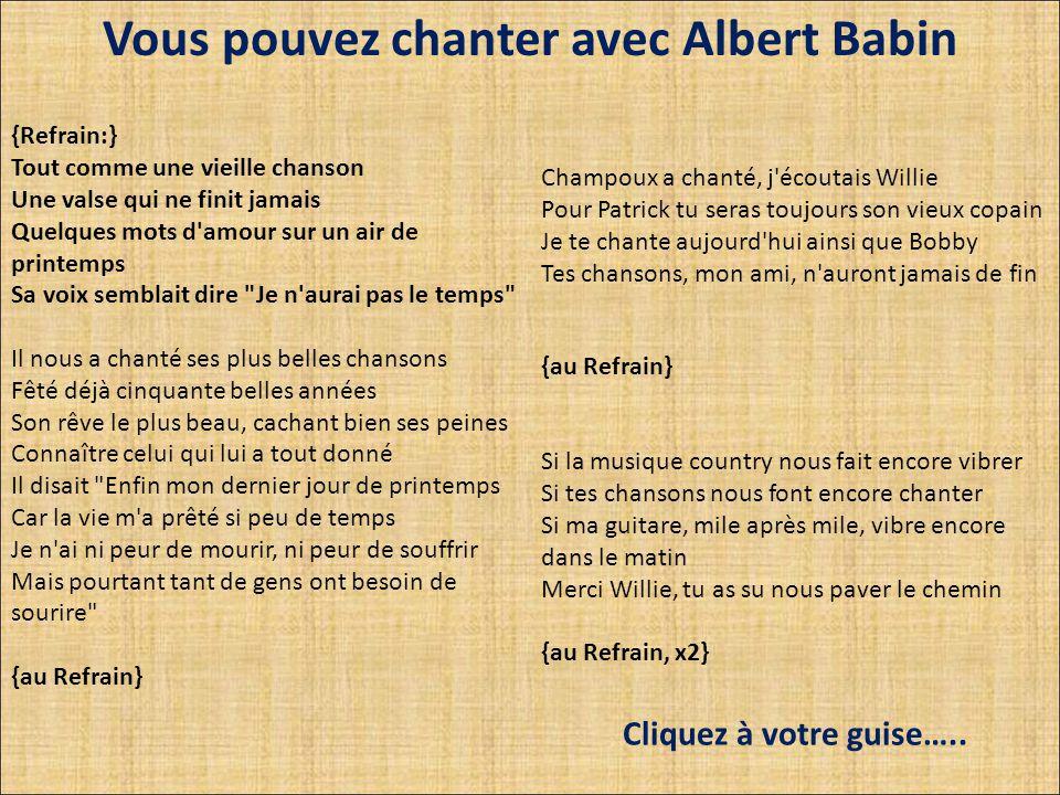 Denis champoux, Levis Bouliane et Albert Bobby Hachey Albert Babin Willie Lamothe