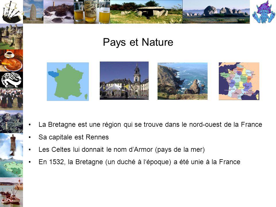 La Bretage et ses villes Brest, Lannion, Nantes, Quimper, Rennes, Saint Brieuc, Saint Malo, et Vannes Les villes les plus connues sont :