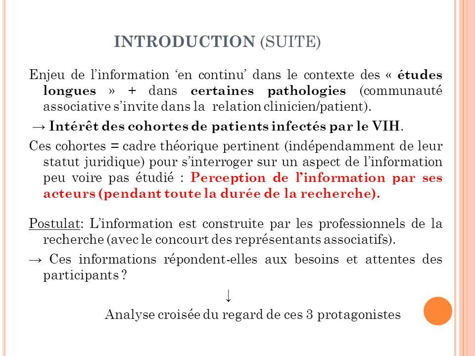 DISCUSSION (SUITE) 3) Quel contenu informatif .