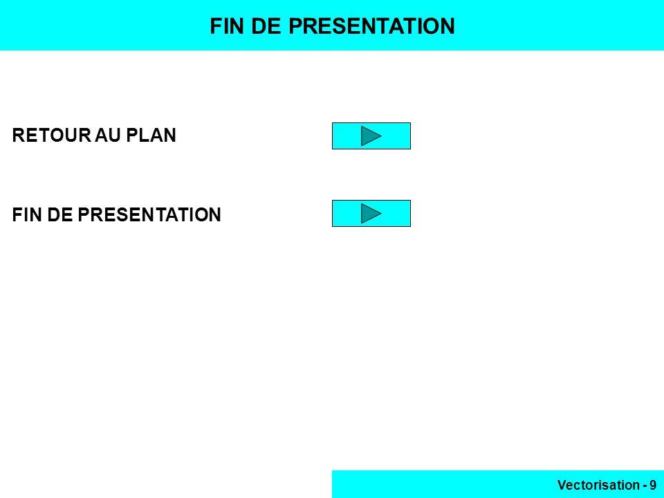 Vectorisation - 9 FIN DE PRESENTATION RETOUR AU PLAN FIN DE PRESENTATION