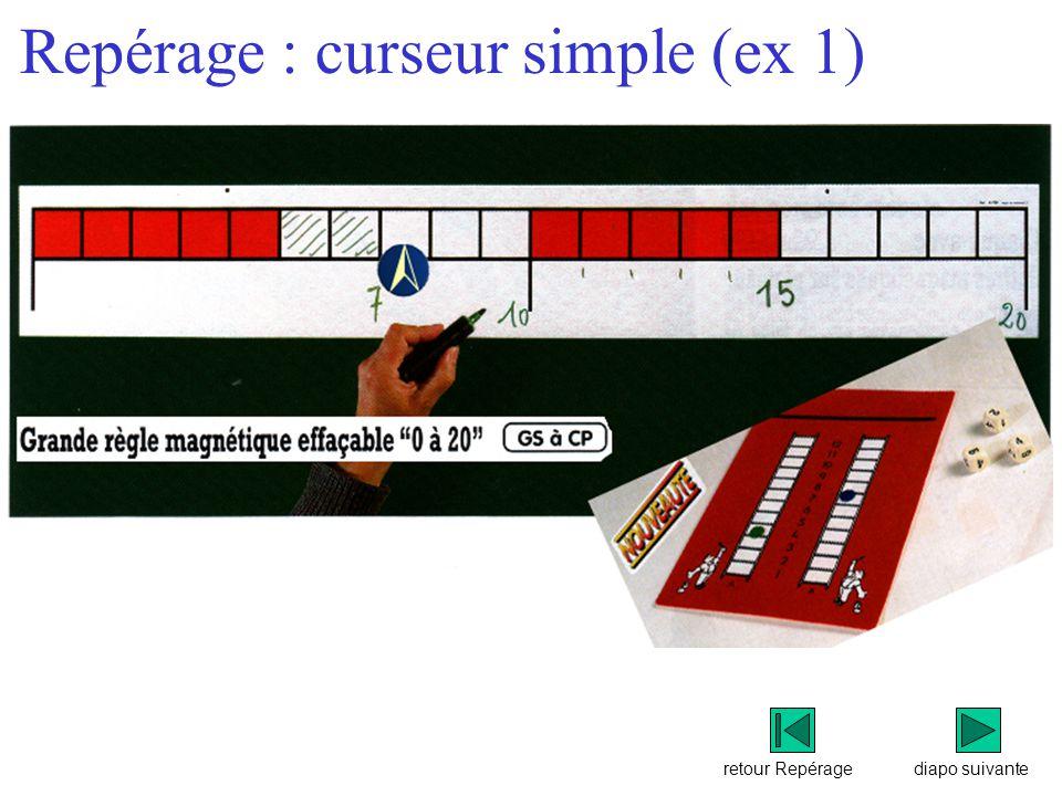 retour Repérage Repérage : curseur simple (ex 1) diapo suivante
