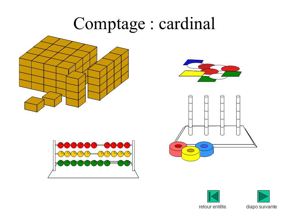 Comptage : cardinal diapo suivanteretour entête.