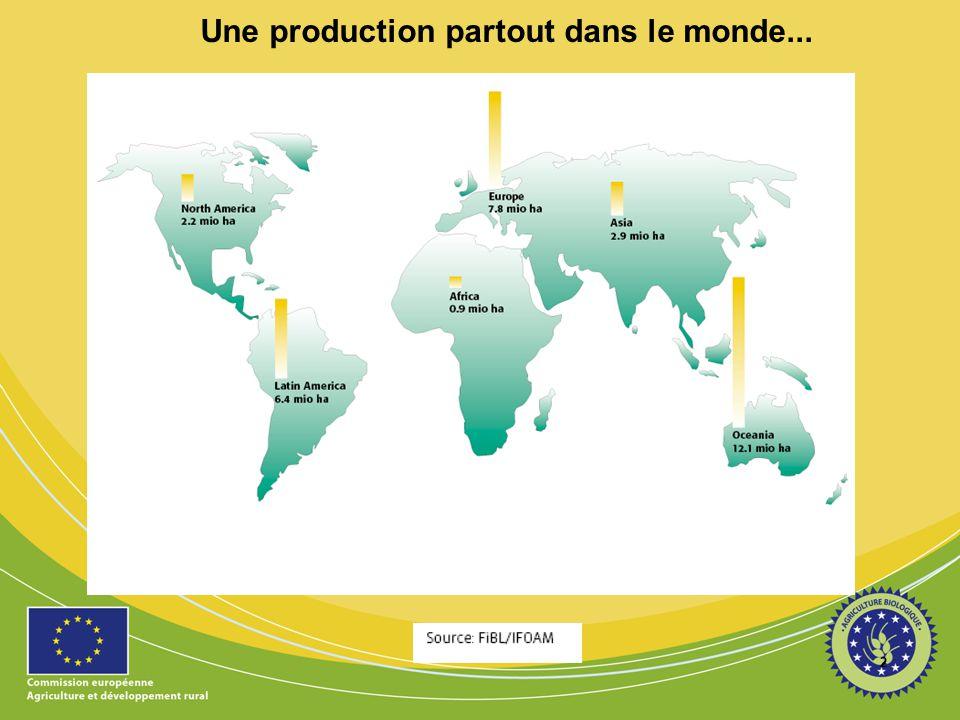 2 Une production partout dans le monde...