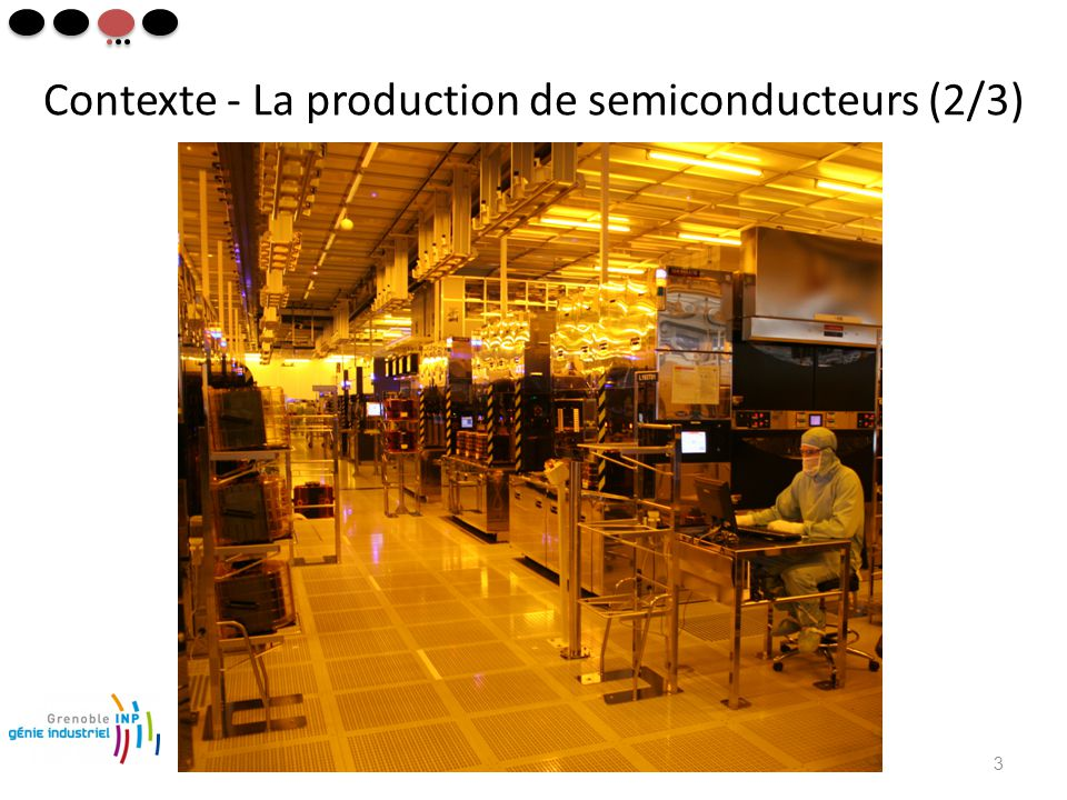 Contexte - La production de semiconducteurs (2/3) 3