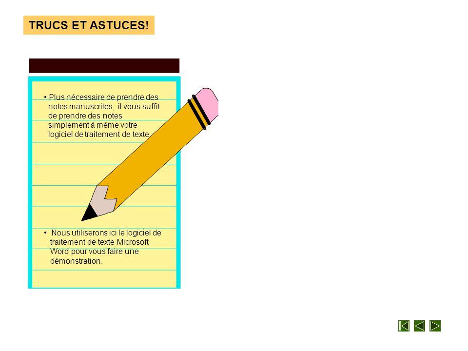 Patron TRUCS ET ASTUCES! Comment prendre des notes et les copier facilement à partir d'Internet? Comment faire?