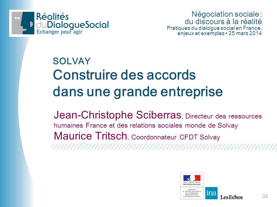 Négociation sociale : du discours à la réalité Pratiques du dialogue social en France, enjeux et exemples • 25 mars 2014 Jean-Christophe Sciberras, Di