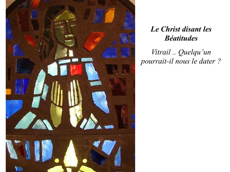 Le Christ disant les Béatitudes Vitrail.. Quelqu'un pourrait-il nous le dater ?