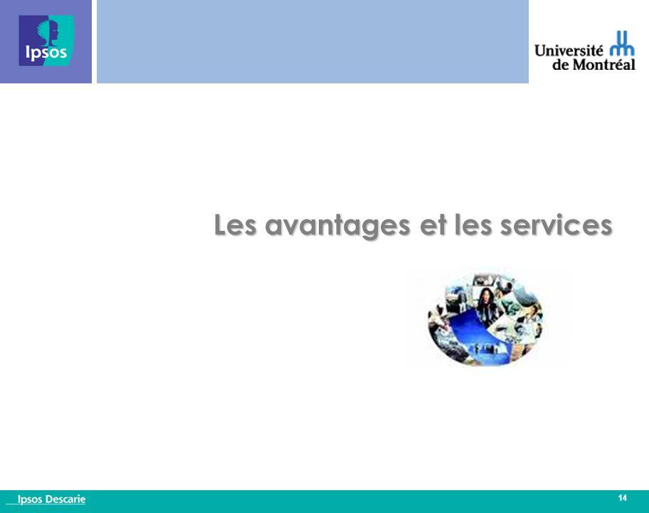 14 Les avantages et les services