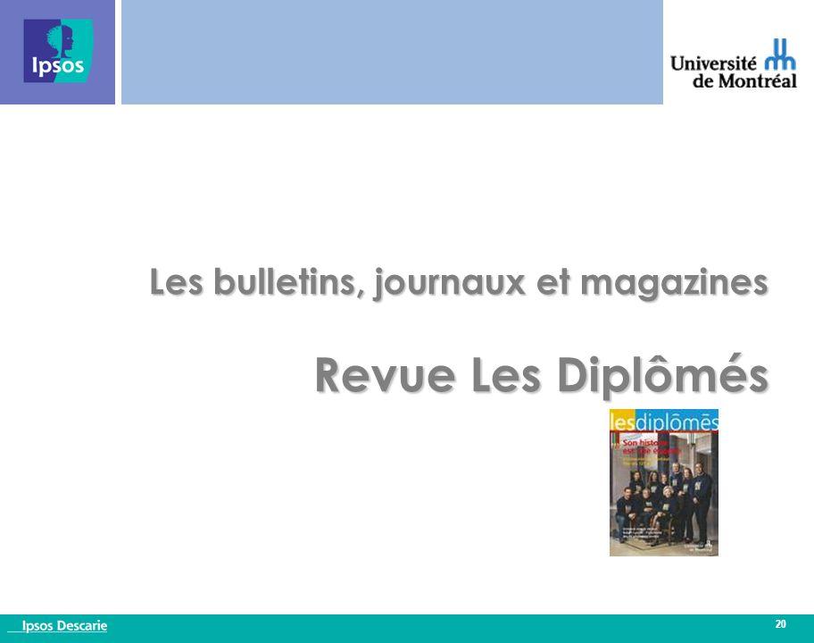 20 Les bulletins, journaux et magazines Revue Les Diplômés