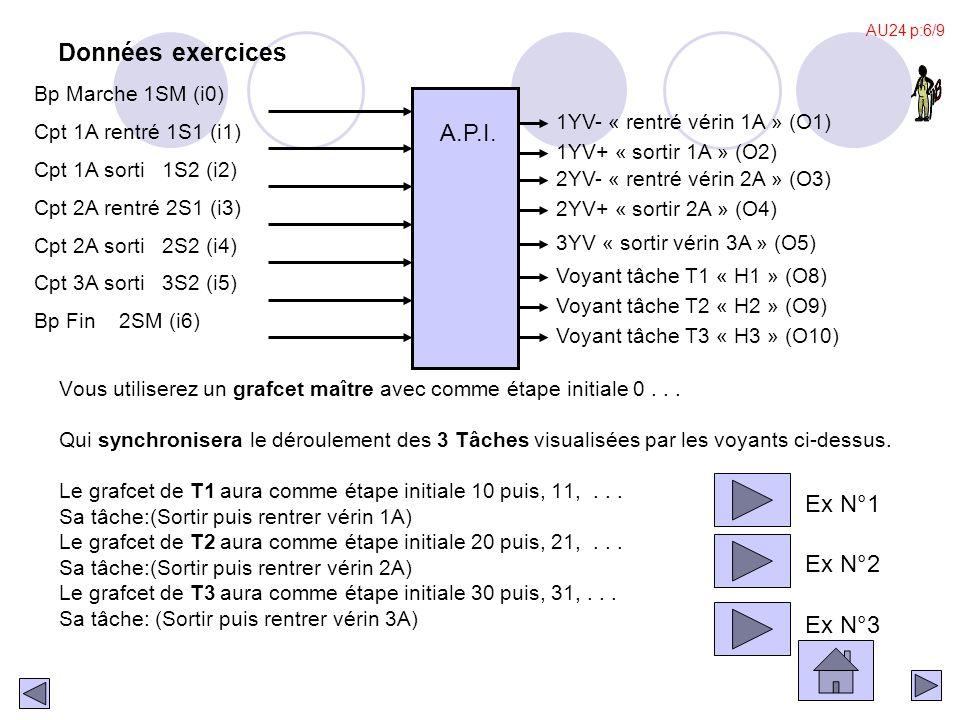 . S10 30 S10 X54 T5-1 31  X62 T7-1 32 X67. T8-1 33 X57. T6-1 34 Tâche T2-1 Marche dans l'ordre Mod1 3C+ 51 50 X31 Tâche T5-1 Arrêter la palette Mod1