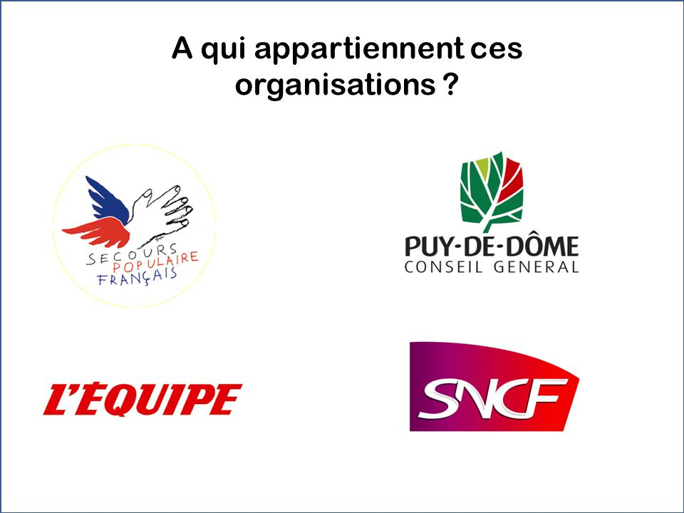 A qui appartiennent ces organisations ?