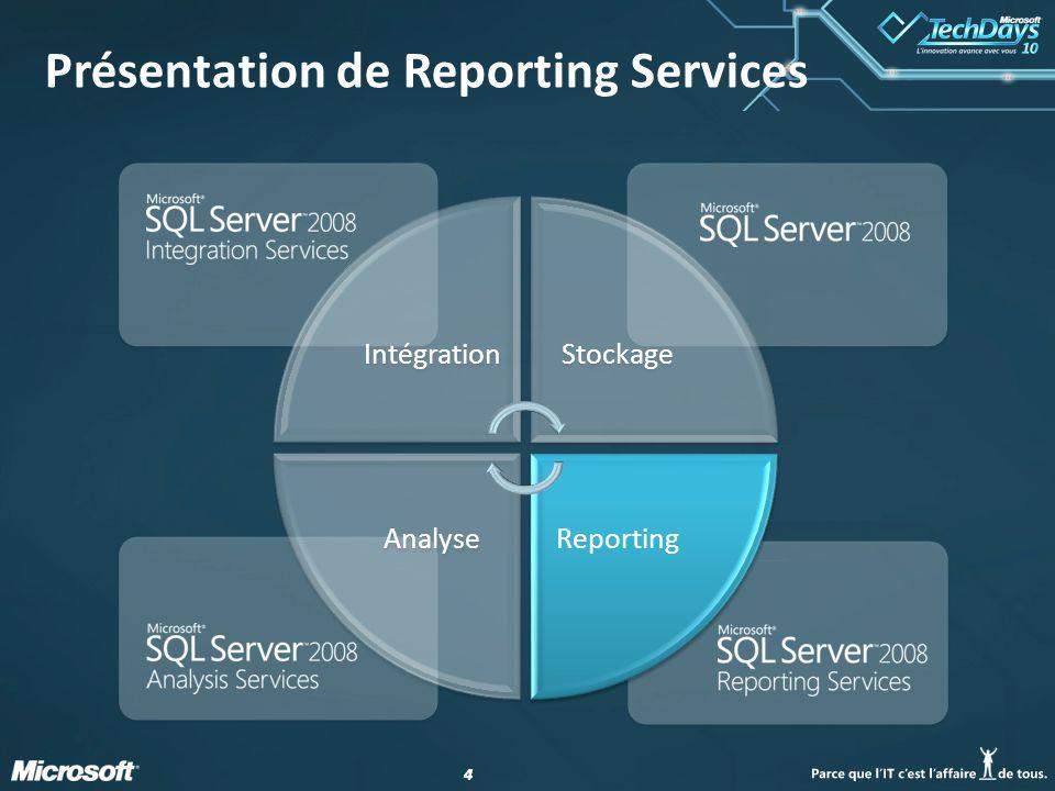 44 Présentation de Reporting Services