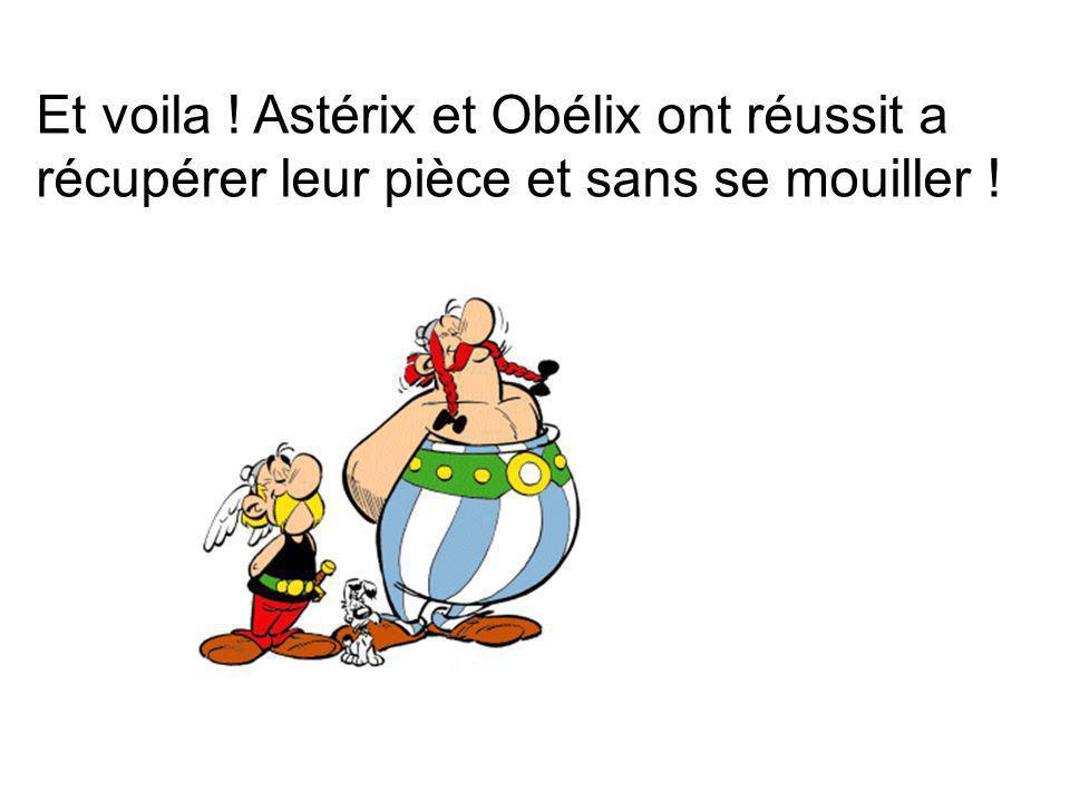 Et voila ! Astérix et Obélix ont réussit a récupérer leur pièce et sans se mouiller !