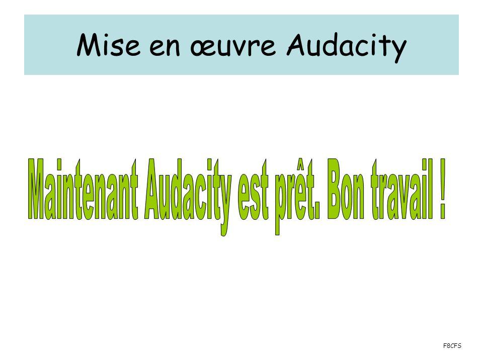 Mise en œuvre Audacity F8CFS