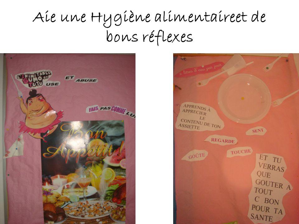 Aie une Hygiène alimentaireet de bons réflexes