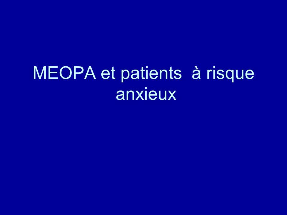 MEOPA et patients à risque anxieux