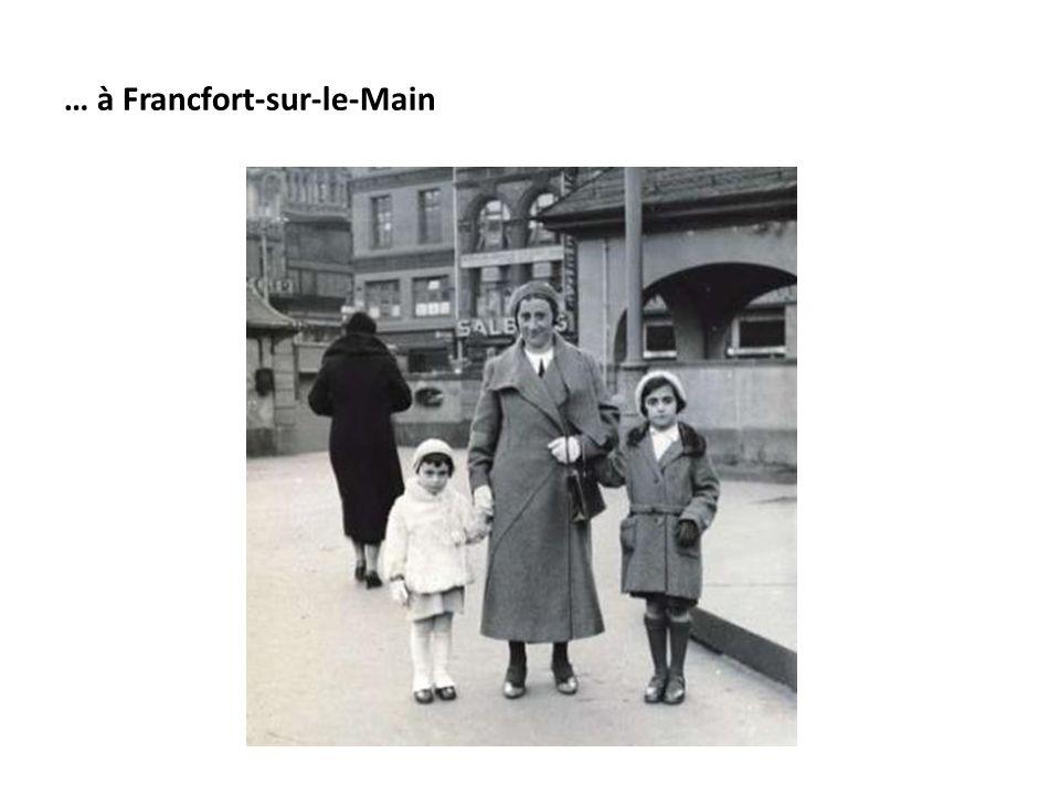 … à Francfort-sur-le-Main