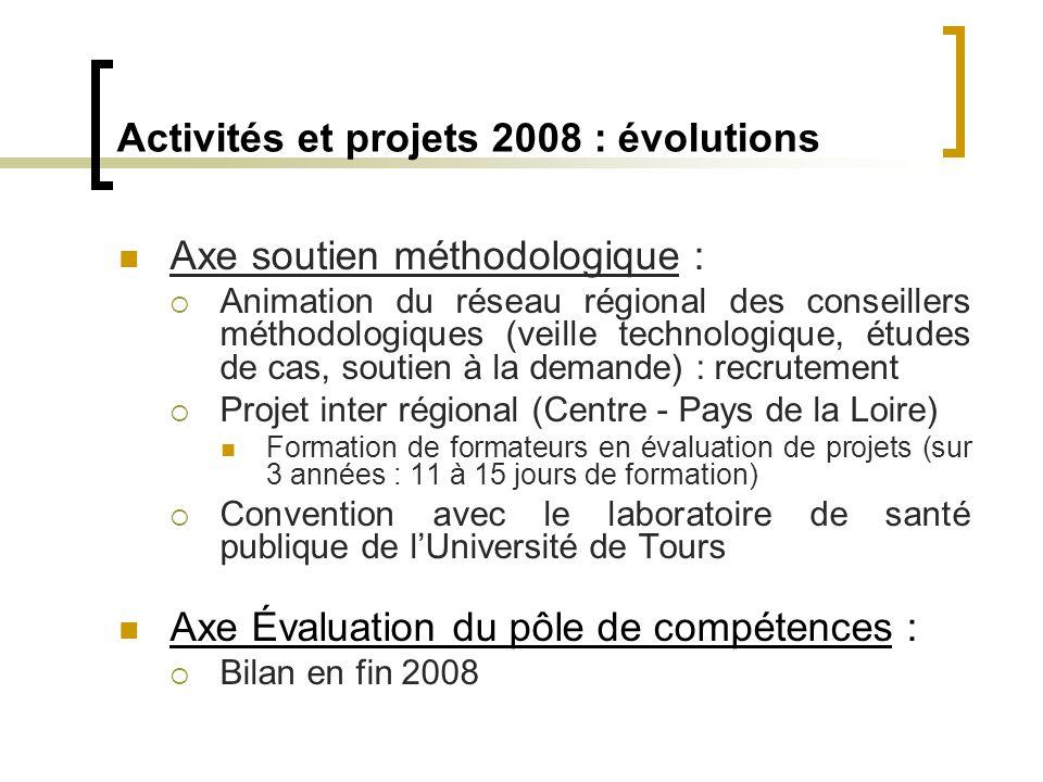  Axe soutien méthodologique :  Animation du réseau régional des conseillers méthodologiques (veille technologique, études de cas, soutien à la deman