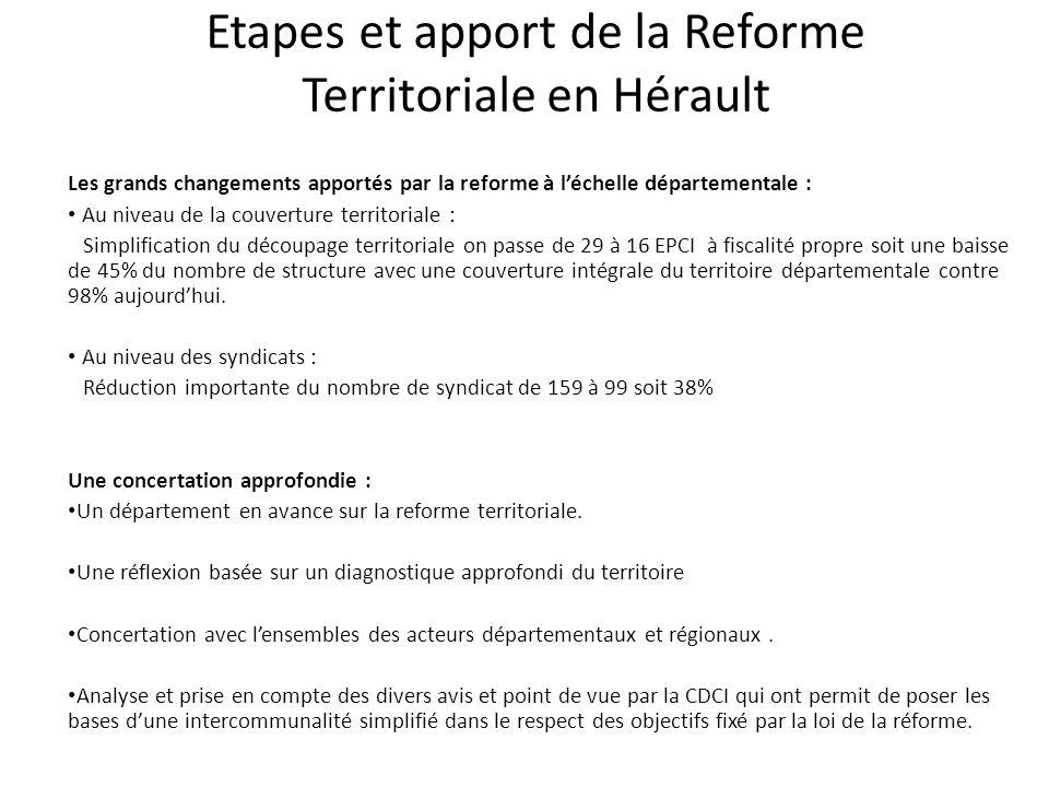 La CDCI de l'hérault et son rôle dans la réforme territoriale Qui est membres au sein CDCI de l'Hérault .