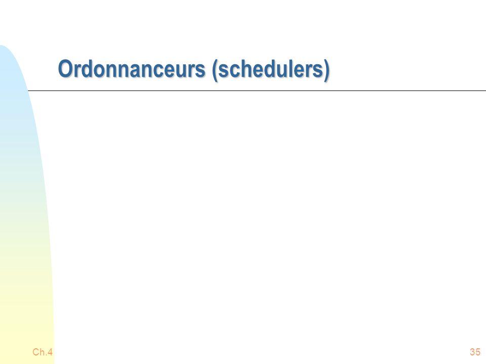 Ordonnanceurs (schedulers) Ch.435