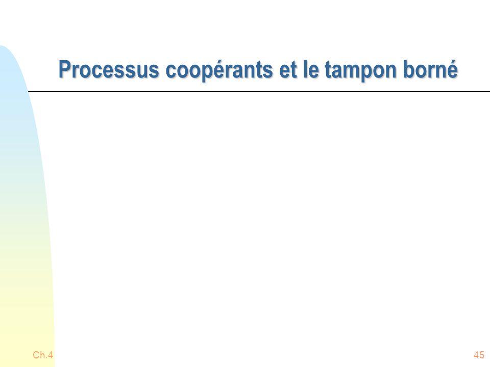 Processus coopérants et le tampon borné Ch.445
