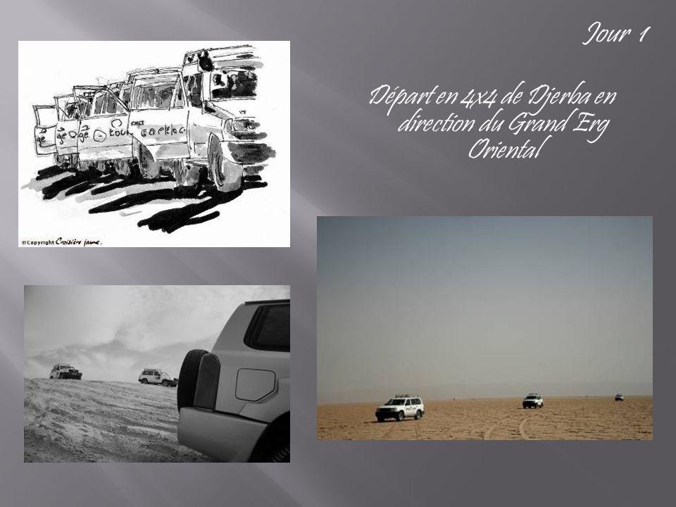 Départ en 4x4 de Djerba en direction du Grand Erg Oriental Jour 1
