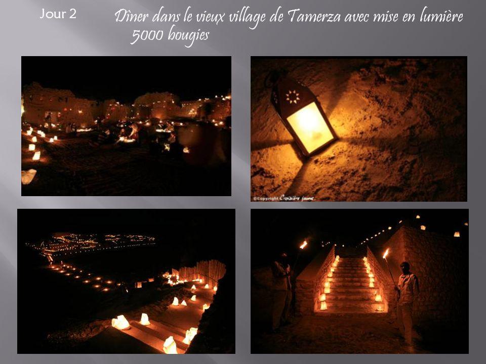 Dîner dans le vieux village de Tamerza avec mise en lumière 5000 bougies Jour 2