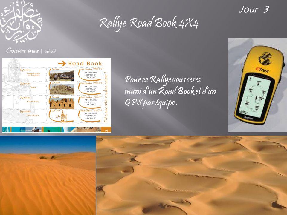 Pour ce Rallye vous serez muni d'un Road Book et d'un GPS par équipe. Rallye Road Book 4X4 Jour 3