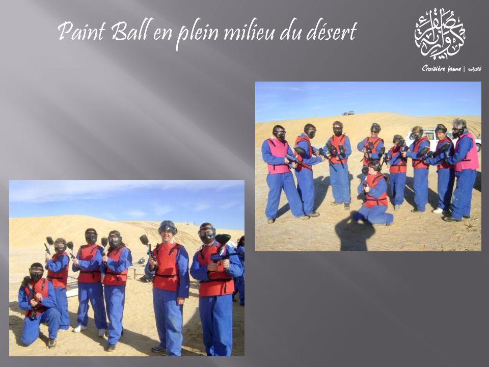Paint Ball en plein milieu du désert