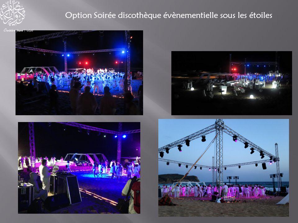 Option Soirée discothèque évènementielle sous les étoiles