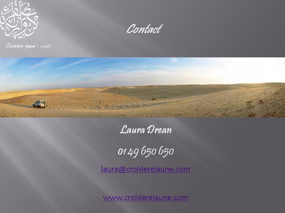 Laura Drean 01 49 650 650 laura@croisierejaune.com www.croisierejaune.com Contact