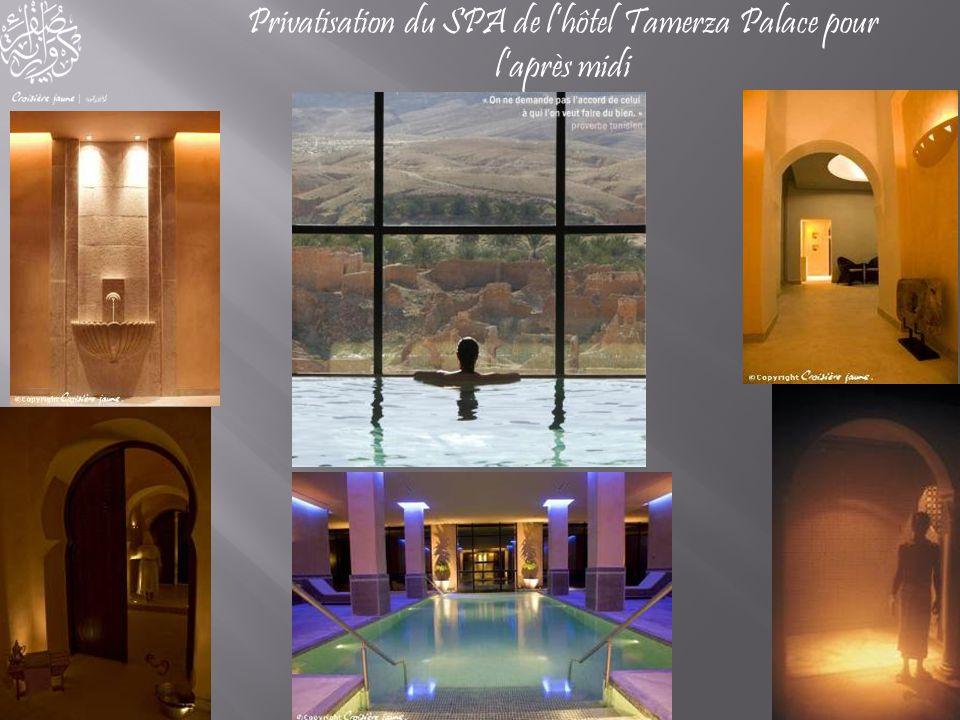 Privatisation du SPA de l'hôtel Tamerza Palace pour l'après midi