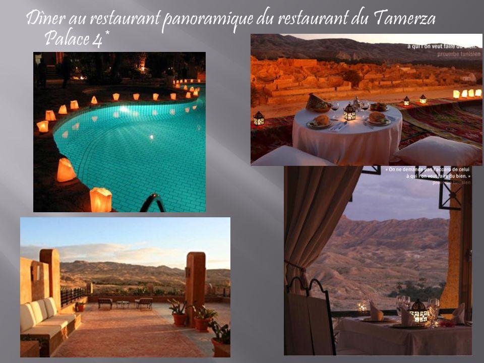 Dîner au restaurant panoramique du restaurant du Tamerza Palace 4*
