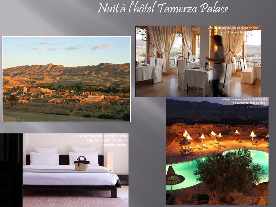 Nuit à l'hôtel Tamerza Palace